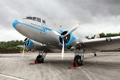PILSEN, CZECH REPUBLIC - AUGUST 27: Rare historic airliner Lisunov Li 2, Pilsen Aeronautical Days on