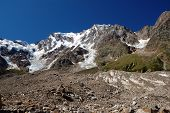 summer view of Monte Rosa glacier