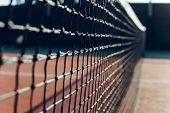 Tennis Net.  Close Up Of Tennis Net. poster