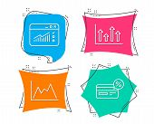 Set Of Upper Arrows, Web Traffic And Diagram Icons. Cashback Sign. Growth Infochart, Website Window, poster