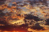 A Beautiful Sunset.shot Of A Dramatic Sunset. Dramatic Sky Background.a Scenic Sunset. Beautiful Sky poster