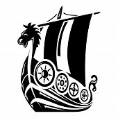 Ancient Ship Icon. Simple Illustration Of Ancient Ship Vector Icon For Web poster