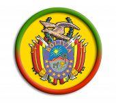 Bolivia button shield on white background