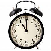 Alarm clock set for 11 o'clock.