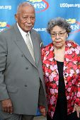 FLUSHING, NY - AUGUST 29: David and Joyce Dinkins attend 2011 US Open opening night ceremonies at th