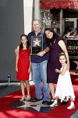 LOS ANGELES - AUG 30: Ed O'Neill, wife Catherine and daughters at a ceremony where actor Ed O'Neill receives a star on the Hollywood Walk of Fame on August 30, 2011 in Los Angeles, California