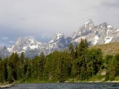 Grand Tetons with lake