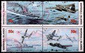 Painel de quatro, de 50 cêntimos de selos imprimido na República das Ilhas Marshall