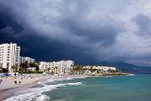 Nerja Beach On Costa Del Sol In Spain