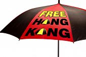 Free Hong Kong Pro Independence Umbrella Movement . poster