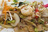 Thai Pad Kee Mao Rice Noodle Dish