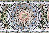 Palace Ceiling Circular Dial Detail