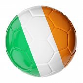Soccer ball. Flag of Ireland