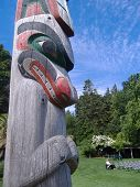 West Coast Totem Pole In Park