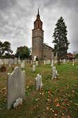 Historic Church And Graveyard poster