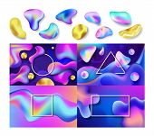 Liquid Abstract Vector Abstracted Color Backdrop Design Colorful Futuristic Fluid Splashes Illustrat poster