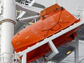 Freefall Lifeboat On A Container-ship