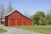 Red Barn In Rural Pennsylvania