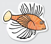 Vector color fish