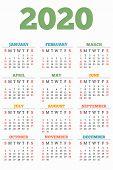 New 2020 Year Calendar Concept Banner. Flat Illustration Of New 2020 Year Calendar Vector Concept Ba poster