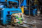 Equipment For Pressing Debris Sorting Material To Be Processed In Modern Waste Recycling Plant. Garb poster