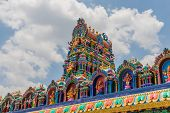 Batu Caves Kuala Lumpur Selangor, Malaysia. March 18 2019. A View Of The Colourful Roof Of The Templ poster