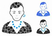 Trendy Gay Composition Of Round Dots In Various Sizes And Color Hues, Based On Trendy Gay Icon. Vect poster
