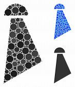 Spray Mosaic Of Filled Circles In Various Sizes And Color Hues, Based On Spray Icon. Vector Random C poster
