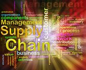 picture of supply chain  - Illustration of words related to Chain supply management - JPG