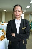 foto of banquette  - photograph of Asian banquet staff at work - JPG