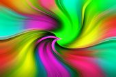 Colorful Abstract Texture - Vivid Multicolor Twisting. Vivid Colored Swirl Twisting Towards Center. poster