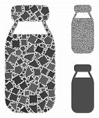 Bottle Composition Of Irregular Items In Different Sizes And Color Hues, Based On Bottle Icon. Vecto poster