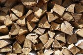 Firewood Background, Pile Of Firewood. Preparation Of Firewood For The Winter And Use For Cooking, S poster