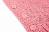 stock photo of bolero  - Buttons on pink sweater - JPG