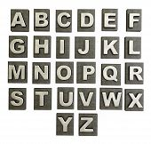 foto of alphabet letters  - Conceptual 3d illustration on a isolated background - JPG