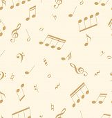 Seamless abstract pattern with music symbols