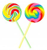 Two Colourful Lollipops