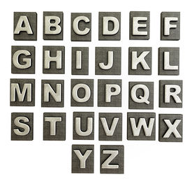 stock photo of alphabet letters  - Conceptual 3d illustration on a isolated background - JPG