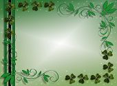 stock photo of saint patricks day  - Illustration for St Patricks Day Card background invitation border or frame with shamrocks and copy space - JPG