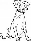 Perro dálmata de dibujos animados para colorear libro