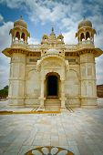 image of mausoleum  - Jaswant Thada mausoleum side entrance Mehrangarh Jodhpur Rajasthan India - JPG