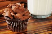 Chocoloate Cupcake And Milk