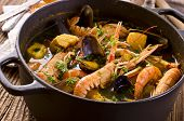bouillabaisse in the pot