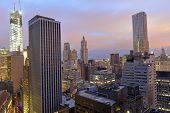 Sunset Over a Dark Manhattan