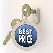 Unlocked locked best price icon on key pendant