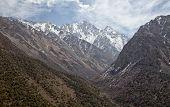 Mountain landscape. Kyrgyzstan. Ala-Archa.