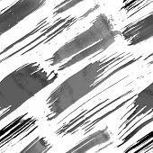 Grunge brushes seamless pattern