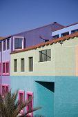 Vibrant buildings in downtown Tucson, Arizona