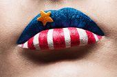 Macro 4Th July Lips