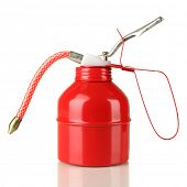 stock photo of hustle  - Red oil can - JPG